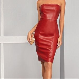 Red Tube Pencil Dress